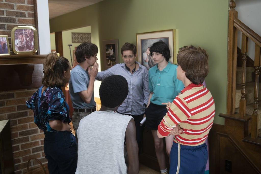 The cast gets a few pointers from director Uta Briesewitz.