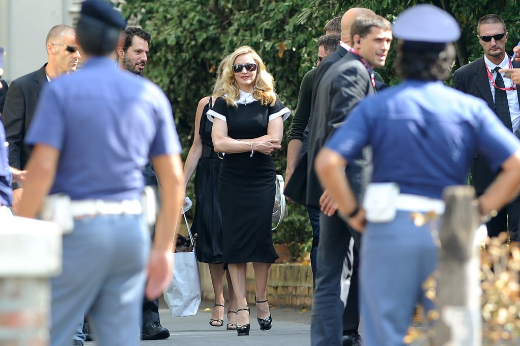 Director Madonna at the film festival.