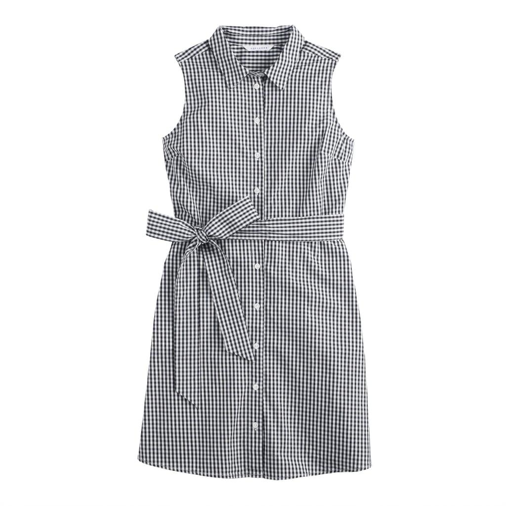 Chiffon Shirt Dress in Gingham