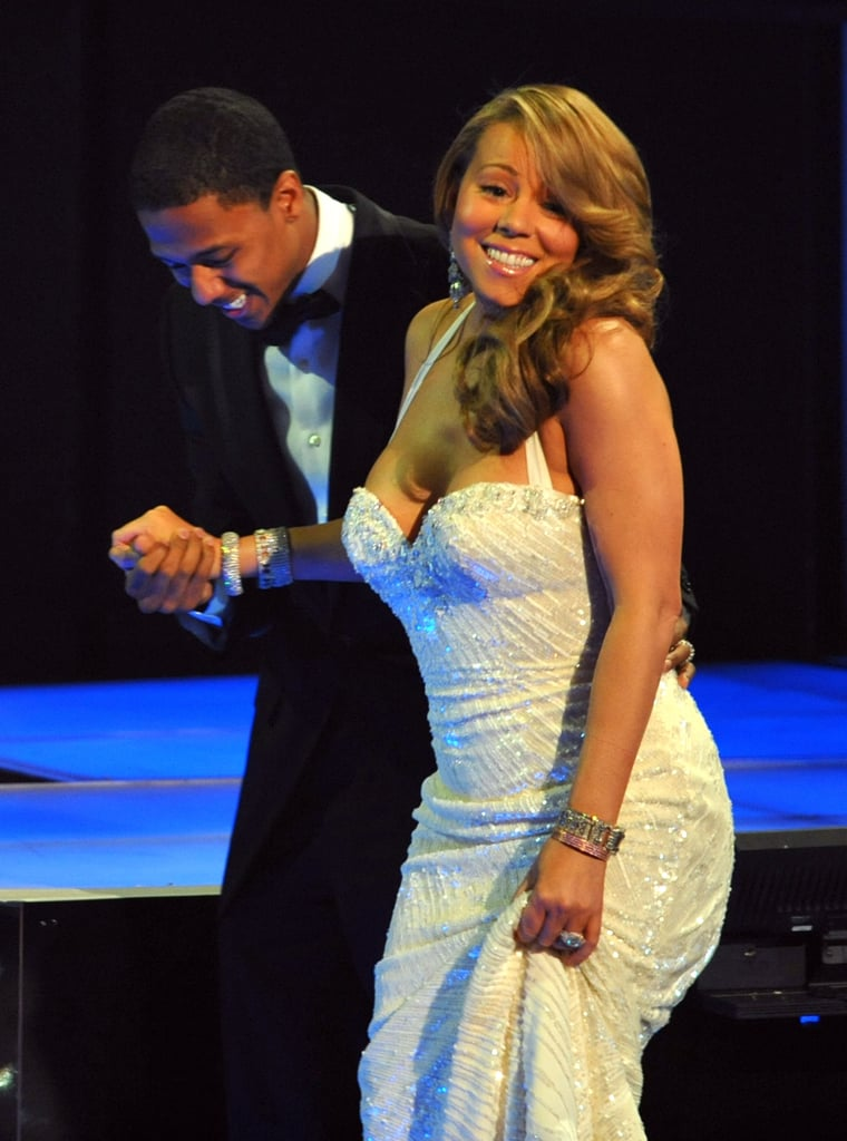 Mariah Carey got some help from then-husband Nick Cannon during the 2010 show.