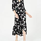 Bar III Ruffled Maxi Wrap Dress