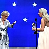 Lady Gaga and Glenn Close Tie to Win at Critics' Choice