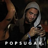 Robert Pattinson texted at Coachella.