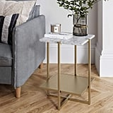 Nathan James Myles Modern Nightstand Marble Side Table