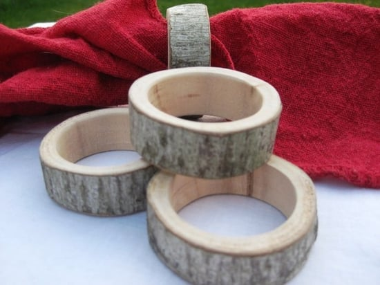 4 Natural Wood Napkin Ring Holders ($14)