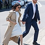 Meghan Wore Her Black Rothy's Flats in Australia After Changing Out of Heels