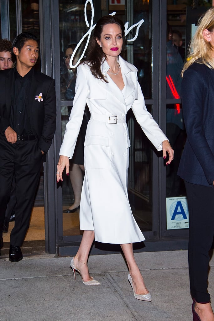 After the Premiere, She Switched Into a White Trench Coat Dress by ...