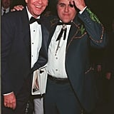 Famous faces Jay Leno and Dick Clark met up during the April 1997 American Country Music Awards.