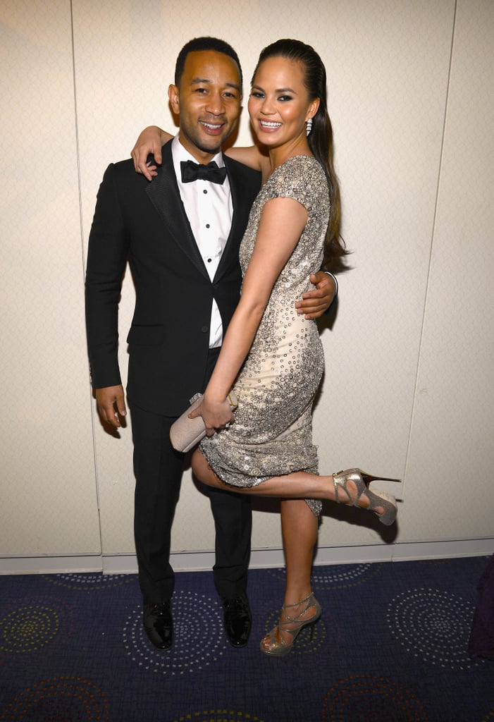 """Chrissy Teigen and John Legend exchanged """"I dos"""" in a lavish Italian ceremony in September 2013, and ever since then, they've brought new meaning to the term """"relationship goals.""""  While Chrissy admits to """"pretending not to care"""" when she first met John on the set of his music video for """"Stereo,"""" she couldn't help gushing about him during an interview with Cosmopolitan magazine back in April 2014, saying, """"I'm with someone who is totally secure in himself. He's not trying to be anything other than what he is. The confidence he has brings it to me."""" John also recently revealed on Twitter that the reason their relationship works is because """"we support each other in everything that we do."""" See what other """"aw""""-inducing things the duo has said about each other, and then check out all the snaps we've already been spoiled with of their daughter Luna."""