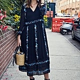 On Hannah: Westward Leaning sunglasses, Zara dress, Muun bag, and Chloe boots.