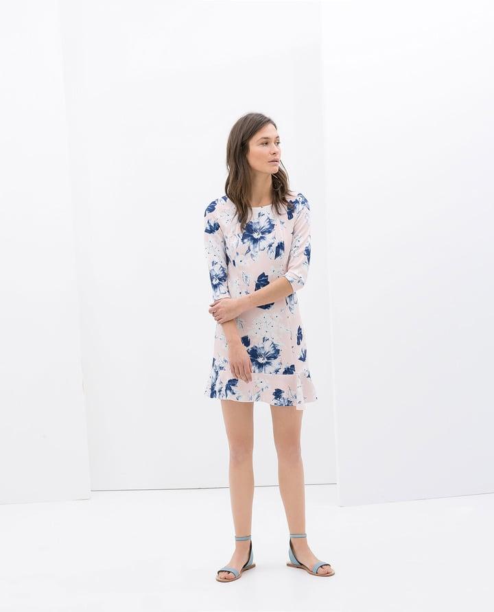 Zara Floral-Print Dress