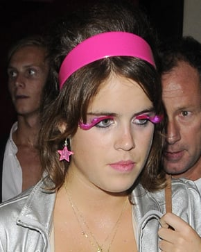 Photo of Princess Eugenie Leaving Kitt Club London with Pink Flase EyeLashes and Pink Hair Band Love or Hate?
