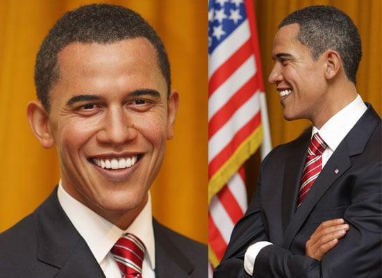 Photos of Barack Obama Waxwork at Madame Tussauds in London