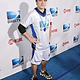 Josh Hutcherson hit the blue carpet before DIRECTV's 7th Annual Celebrity Beach Bowl on Saturday in New Orleans.