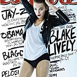 Blake Lively went pantsless for Esquire's February 2010 issue.