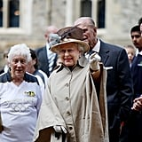The Olympic torch visits Windsor Castle in 2012.
