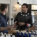 David Rose's Leather Sweater on Schitt's Creek