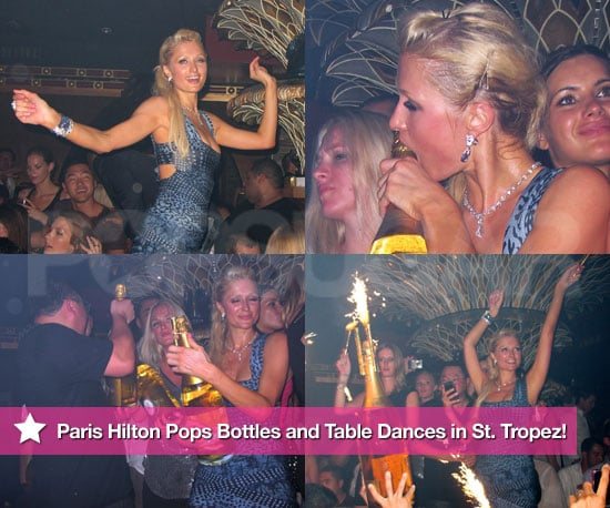 Pictures of Paris Hilton Looking Drunk and Partying in St. Tropez