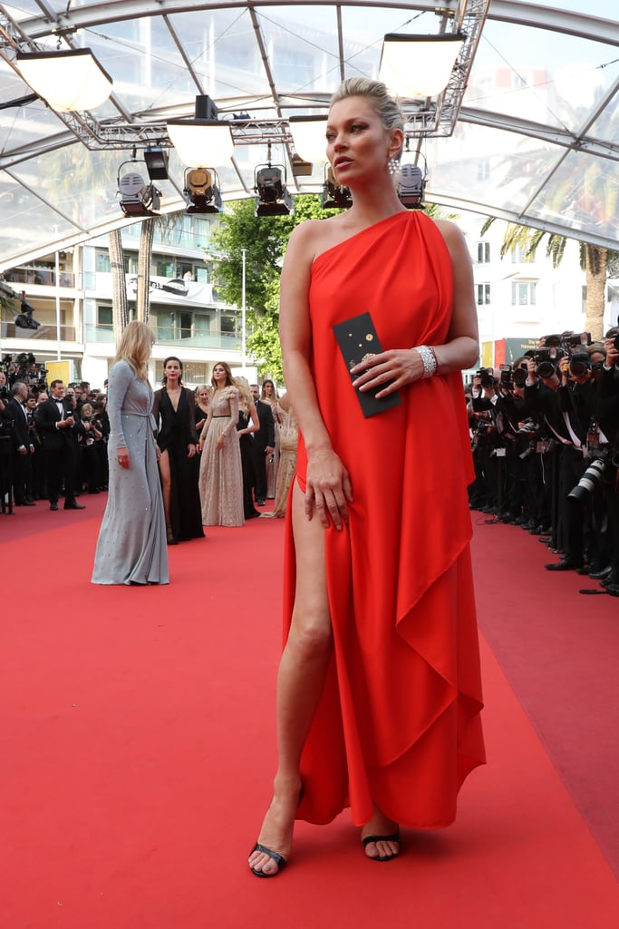 Kate Moss S Red Dress At Cannes 2016 Popsugar Fashion