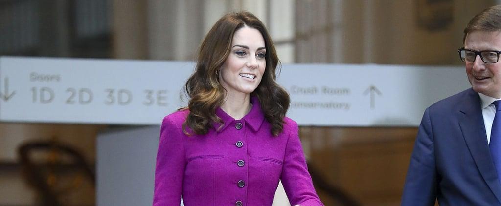 Kate Middleton Purple Oscar de la Renta Suit January 2019