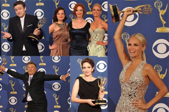 Photos of Alec Baldwin, Tina Fey, Justin Timberlake, Kristin Chenoweth at Primetime Emmy Awards Press Room