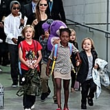 Zahara held hands with Knox as they led the way out of Sydney Airport on Sept. 6.