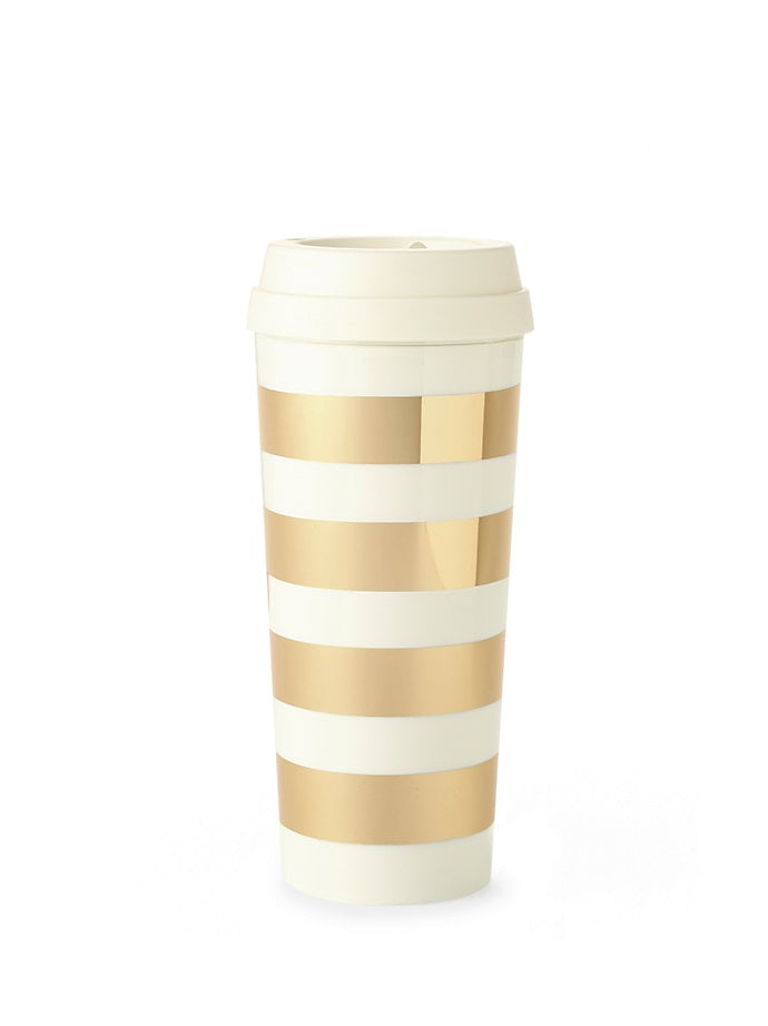 Kate Spade Gold Stripe Thermal Mug ($18)