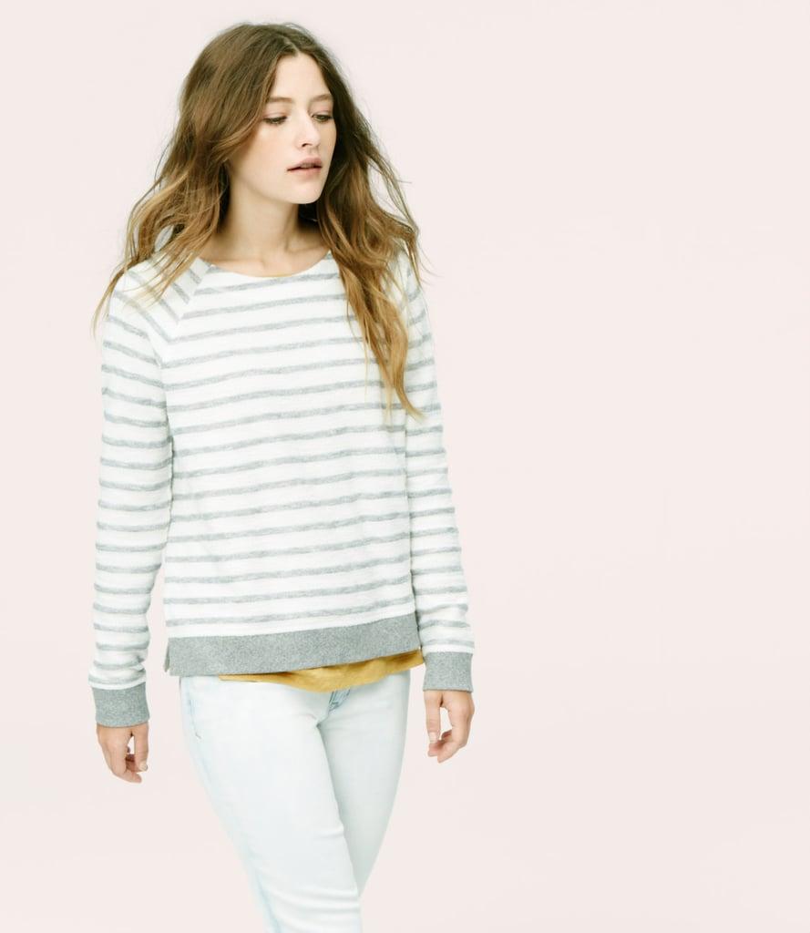 Loft Lou & Grey Haze Stripe Sweatshirt ($50)