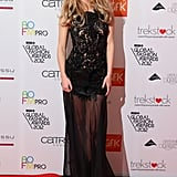 Bringing out her sexy side in a sheer dress with lace detail, Suki made sure all eyes were on her at the WGSN Global Fashion Awards in November 2012.