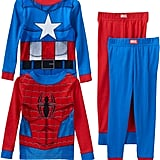 Marvel Spider-Man & Captain America Toddler 4-pc. Tee & Pants Pajama Set