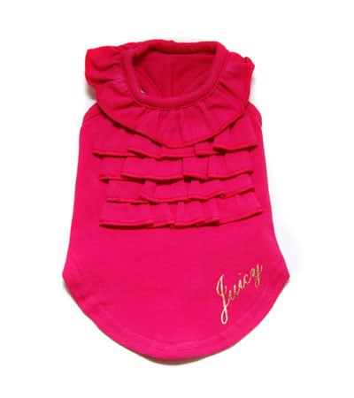 Juicy Couture Pointelle Ruffled Tank Vivid ($35)