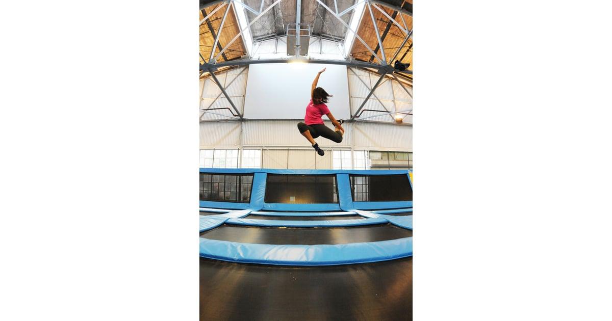 san francisco house of air trampoline gym popsugar fitness. Black Bedroom Furniture Sets. Home Design Ideas