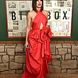 Sandra Wore a Martin Grant Cutout Gown to the Bird Box Premiere