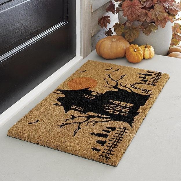Haunted House Halloween Coir Doormat ($30)