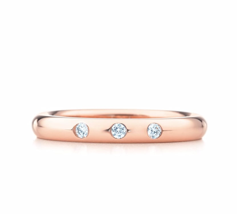 Tiffany Co Elsa Peretti Stacking Band Ring 1100 Rose Gold