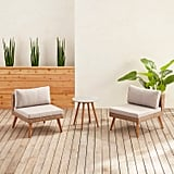 Bari Sand Armless Chair & Side Table Collection