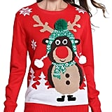 Daisy's Boutique Christmas Cute Reindeer Knitted Sweater