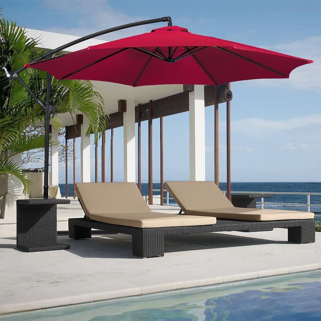 Hanging Outdoor Market Patio Umbrella With Easy Tilt Adjustment