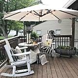 Offset Cantilever Umbrella Outdoor Hanging Patio Umbrella