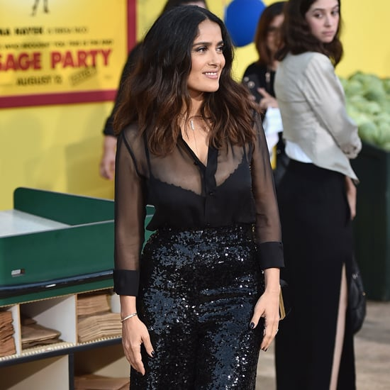 Salma Hayek Sequin Pants at Sausage Party Premiere 2016