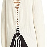 A.L.C. Markell Lace-Up Sweater