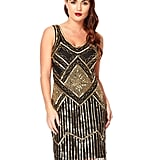 Aidan Mattox Feather Trim Cocktail Dress