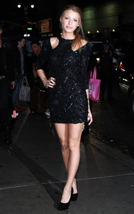 Blake Lively Promoting The Town at The Late Show