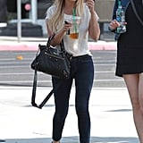 Lauren Conrad enjoyed a drink from Starbucks while out in LA.