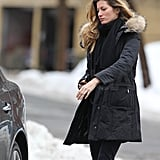 Pictures of Gisele Bundchen and Tom Brady Arriving Home in Boston