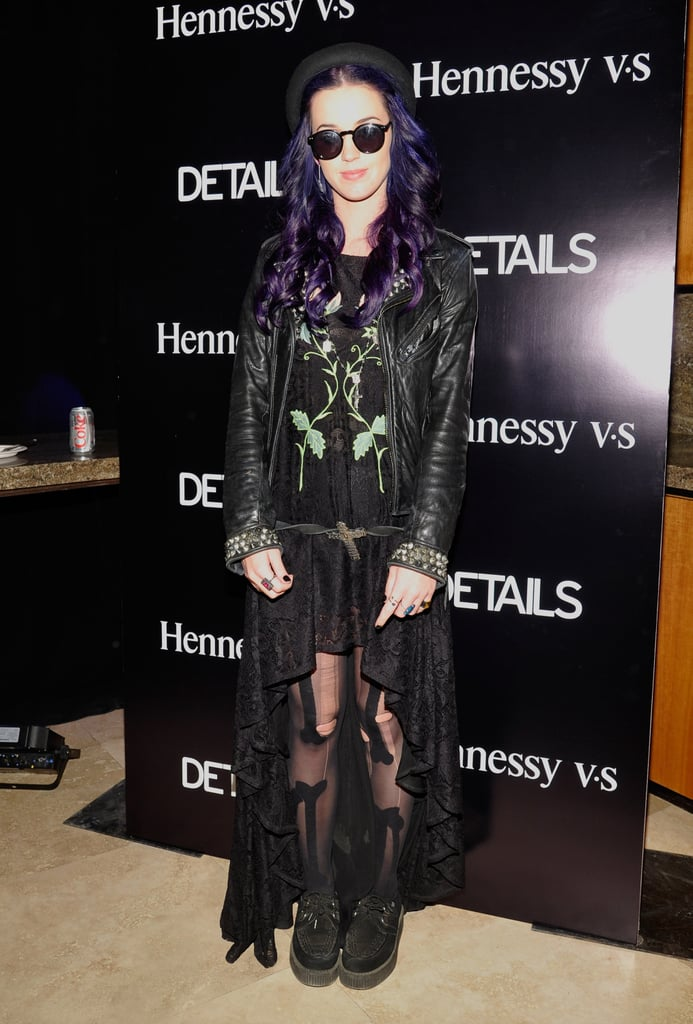 Katy Perry went from the festival to the Details and Hennessy after party in 2012.