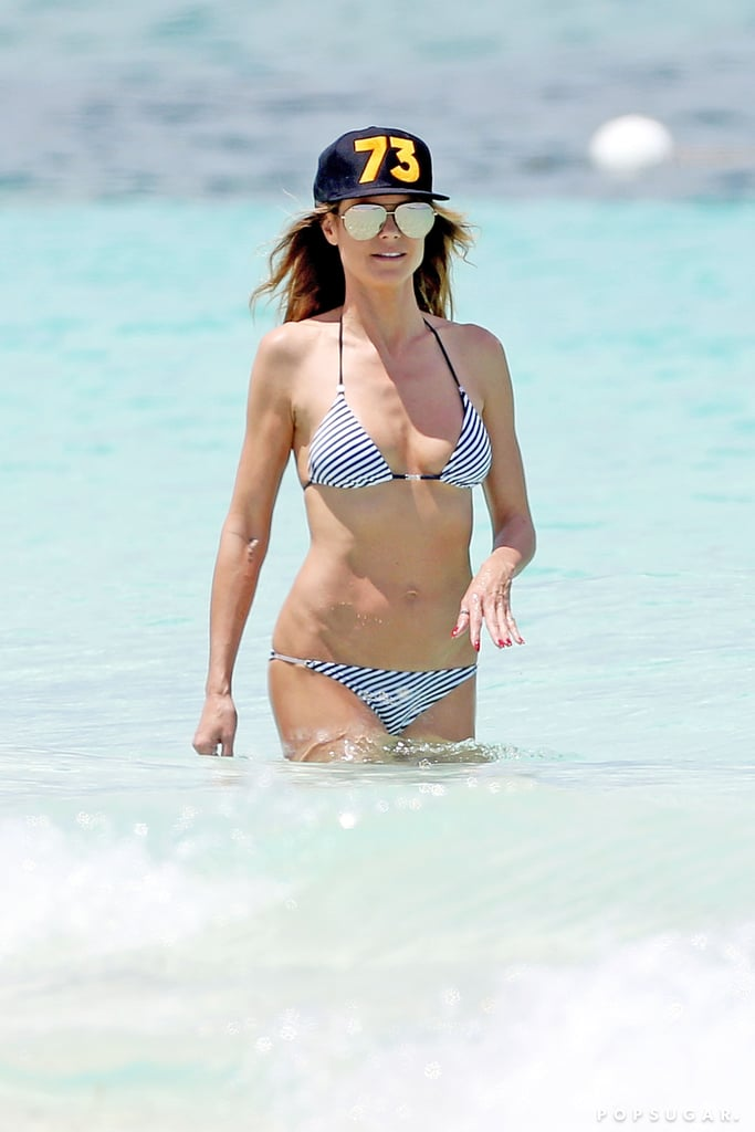 Heidi Klum Wearing a Bikini in Turks and Caicos April 2017 ...