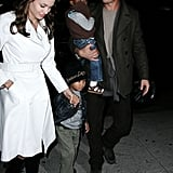 Brad Pitt and Angelina Jolie explored NYC in December 2006 with the kids.