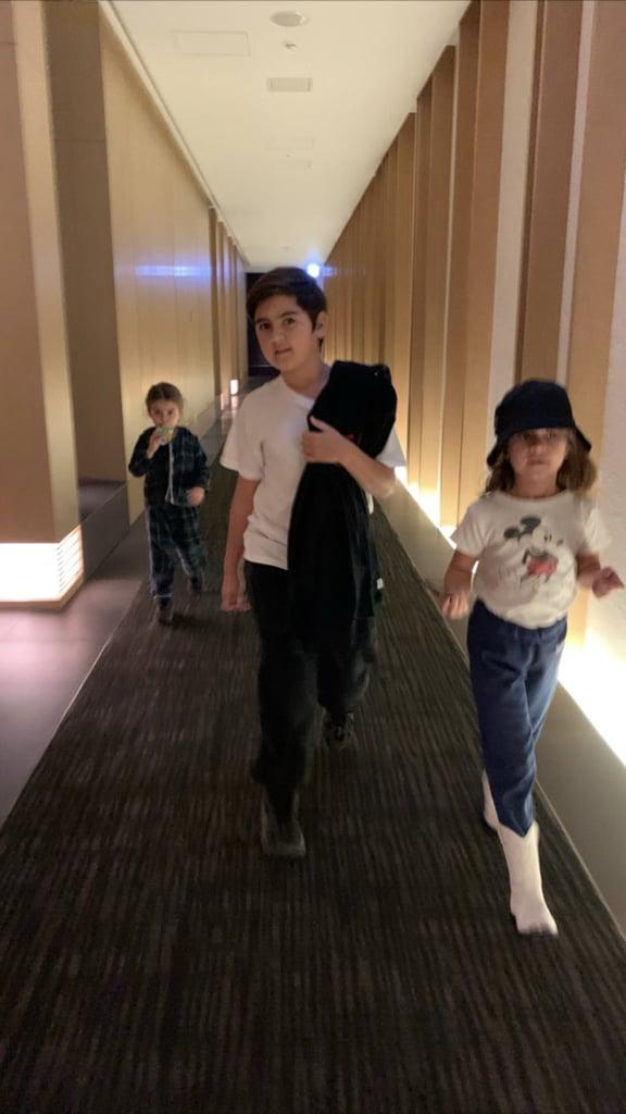 Kim and Kourtney Kardashian With Kids in Japan   Pictures