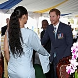Prince Harry Meeting Rihanna in Barbados 2016